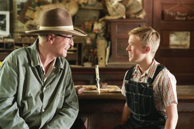 """Michael Caine and Haley Joel Osment in """"Secondhand Lions"""""""