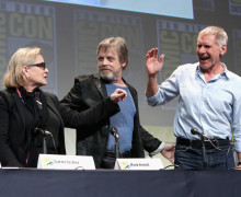 SAN DIEGO, CA - JULY 10:  (Jesse Grant/Getty Images for Disney)  Carrie Fisher; Mark Hamill; Harrison Ford