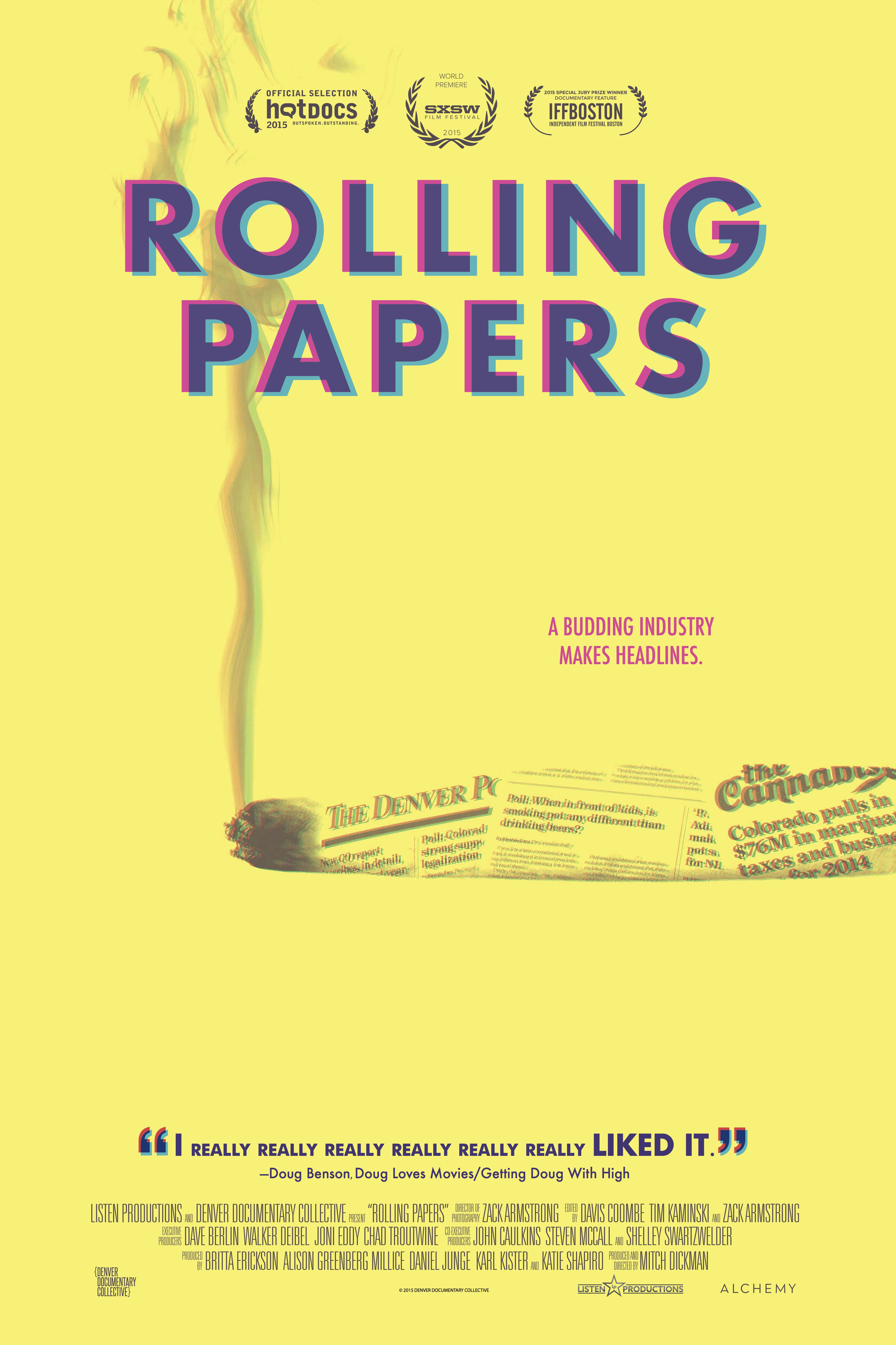 Pot Journalism  See how it rolls with ROLLING PAPERS  Check out the