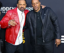 Mike Epps and Director, Deon Taylor at the premiere of MEET THE BLACKS.